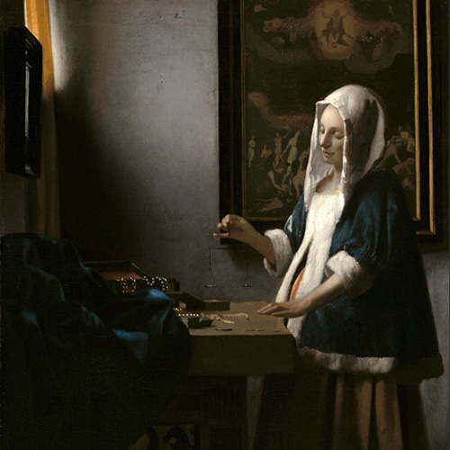 Vermeer, Woman Holding A Balance