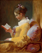 Jean-Honoré Fragonard - Young Girl Reading, c. 1770