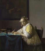 Johannes Vermeer - A Lady Writing, c. 1665