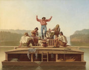 George Caleb Bingham - The Jolly Flatboatmen, 1846