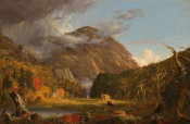 Thomas Cole - A View of the Mountain Pass Called the Notch of the White Mountains (Crawford Notch), 1839