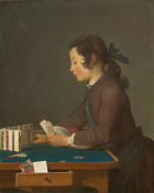Jean Siméon Chardin - The House of Cards, probably 1737