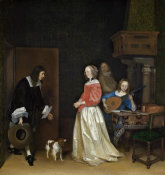 Gerard ter Borch the Younger - The Suitor's Visit, c. 1658