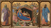 Duccio di Buoninsegna - The Nativity with the Prophets Isaiah and Ezekiel, 1308-1311