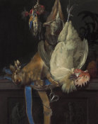 Willem van Aelst - Still Life with Dead Game, 1661