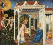 Giovanni di Paolo - The Annunciation and Expulsion from Paradise, c. 1435