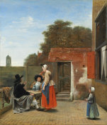 Pieter de Hooch - A Dutch Courtyard, 1658/1660