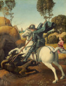 Raphael - Saint George and the Dragon, c. 1506