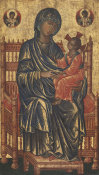 Byzantine 13th Century - Enthroned Madonna and Child, c. 1250/1275