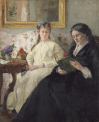 Berthe Morisot - The Mother and Sister of the Artist, 1869/1870 height=