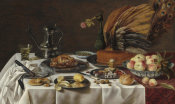 Pieter Claesz - Still Life with Peacock Pie, 1627