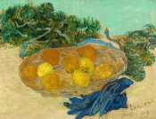 Vincent van Gogh - Still Life of Oranges and Lemons with Blue Gloves, 1889