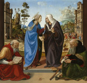 Piero di Cosimo - The Visitation with Saint Nicholas and Saint Anthony Abbot, c. 1489/1490