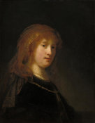 Rembrandt van Rijn - Saskia van Uylenburgh, the Wife of the Artist, probably begun 1634/1635 and completed 1638/1640