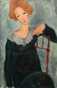 Amedeo Modigliani - Woman with Red Hair, 1917