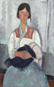 Amedeo Modigliani - Gypsy Woman with Baby, 1919