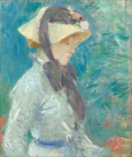 Berthe Morisot - Young Woman with a Straw Hat, 1884 height=