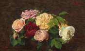Henri Fantin-Latour - Roses de Nice on a Table, 1884