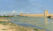 Frédéric Bazille - The Ramparts at Aigues-Mortes, 1867