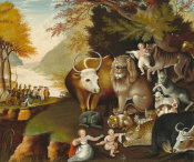 Edward Hicks - Peaceable Kingdom, c. 1834