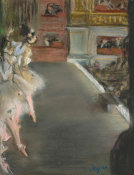 Edgar Degas - Dancers at the Old Opera House, c. 1877