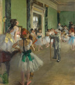 Edgar Degas - The Dance Class, begun 1873, completed 1875-1876