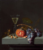 Jacob van Walscapelle - Still Life with Fruit, 1675