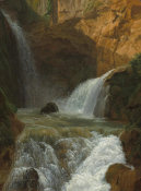Jean-Joseph-Xavier Bidauld - View of the Waterfalls at Tivoli, 1788