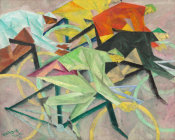 Lyonel Feininger - The Bicycle Race, 1912