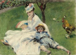 Auguste Renoir - Madame Monet and Her Son, 1874