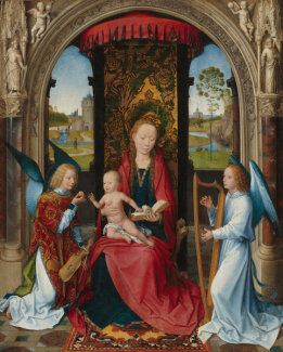 Hans Memling - Madonna and Child with Angels, after 1479