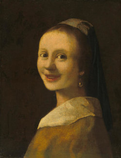 Imitator of Johannes Vermeer - The Smiling Girl, c. 1925