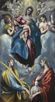 El Greco - Madonna and Child with Saint Martina and Saint Agnes, 1597/1599