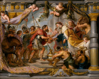 Sir Peter Paul Rubens - The Meeting of Abraham and Melchizedek, c. 1626