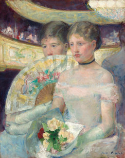 Mary Cassatt - The Loge, c. 1878-1880