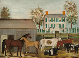 Amzi Emmons Zeliff - The Barnyard, late 19th century