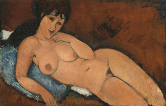 Amedeo Modigliani - Nude on a Blue Cushion, 1917