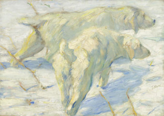 Franz Marc - Siberian Dogs in the Snow, 1909/1910