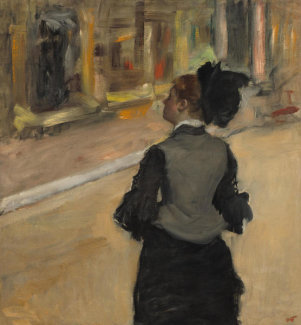 Edgar Degas - Woman Viewed from Behind (Visit to a Museum), c. 1879-1885