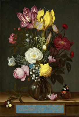 Ambrosius Bosschaert - Bouquet of Flowers in a Glass Vase, 1621