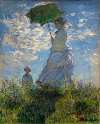 Claude Monet - Woman with a Parasol—Madame Monet and Her Son, 1875