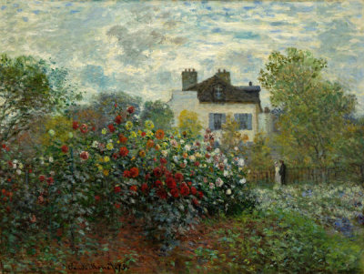 Claude Monet - The Artist's Garden in Argenteuil (A Corner of the Garden with Dahlias), 1873