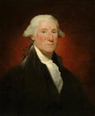 Gilbert Stuart - George Washington (Vaughan portrait), 1795