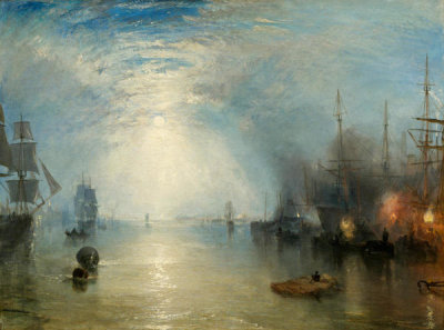 Joseph Mallord William Turner - Keelmen Heaving in Coals by Moonlight, 1835