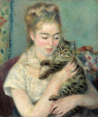 Auguste Renoir - Woman with a Cat, c. 1875