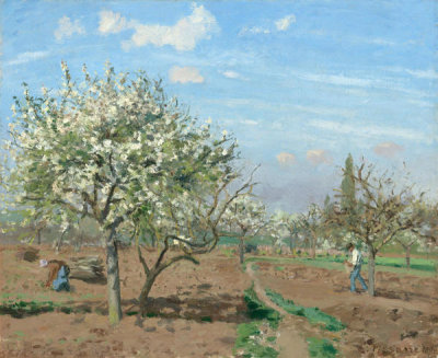 Camille Pissarro - Orchard in Bloom, Louveciennes, 1872