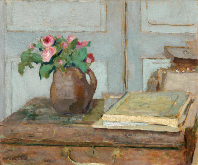 Edouard Vuillard - The Artist's Paint Box and Moss Roses, 1898