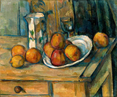Paul Cézanne - Still Life with Milk Jug and Fruit, c. 1900