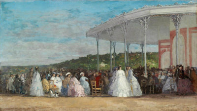 Eugène Boudin - Concert at the Casino of Deauville, 1865