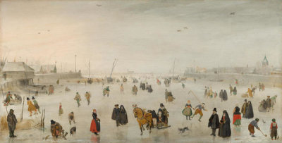 Hendrick Avercamp - A Scene on the Ice, c. 1625